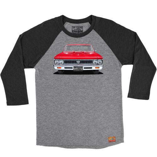 1966 Chevy Chevelle Super Sport Men//Unisex 3//4 Sleeve Baseball Raglan Shirts