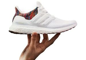 a6cd6684dd137 Mi Adidas Ultra Boost NYC Rainbow All White Size 9.5 100% AUTHENTIC ...