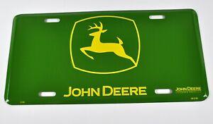 John Deere USA Nummernschild License Plate Blech Deko Schild Blechschild grün