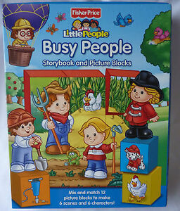 Fisher Price Little People Storybook and Picture Blocks, Brand New!