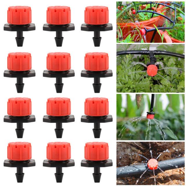 100X Micro Bubbler Drip Irrigation Adjustable Emitter Stake Water Dripper New