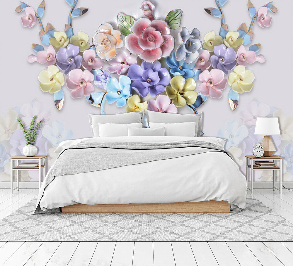 3D rot Flower 8499 Wall Paper Exclusive MXY Wallpaper Mural Decal Indoor Wall AJ