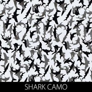 Shark Camo Hydrographic Film animal dip stick hydro gun pistol fishing