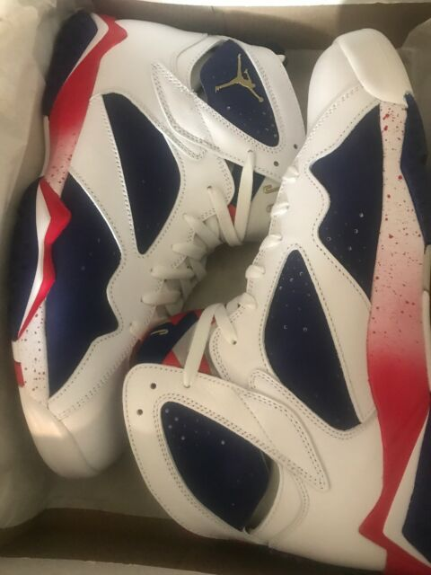 37431c207e94 italy air jordan 7 vii shoes nike flight club 8c858 abef9  promo code air  jordan vii 7 olympic usa tinker alternate red white blue size 11.5 02782