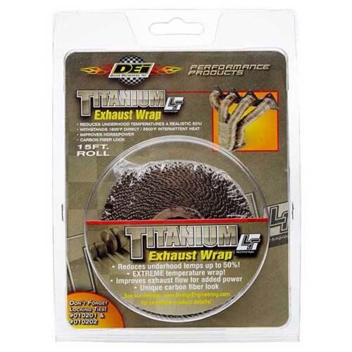 "New Titanium Exaust Performance Heat Wrap 1/"" X 15/' Roll"