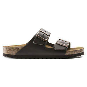 Birkenstock Arizona Natural Leather Sandals - Narrow Women's  Dark Brown