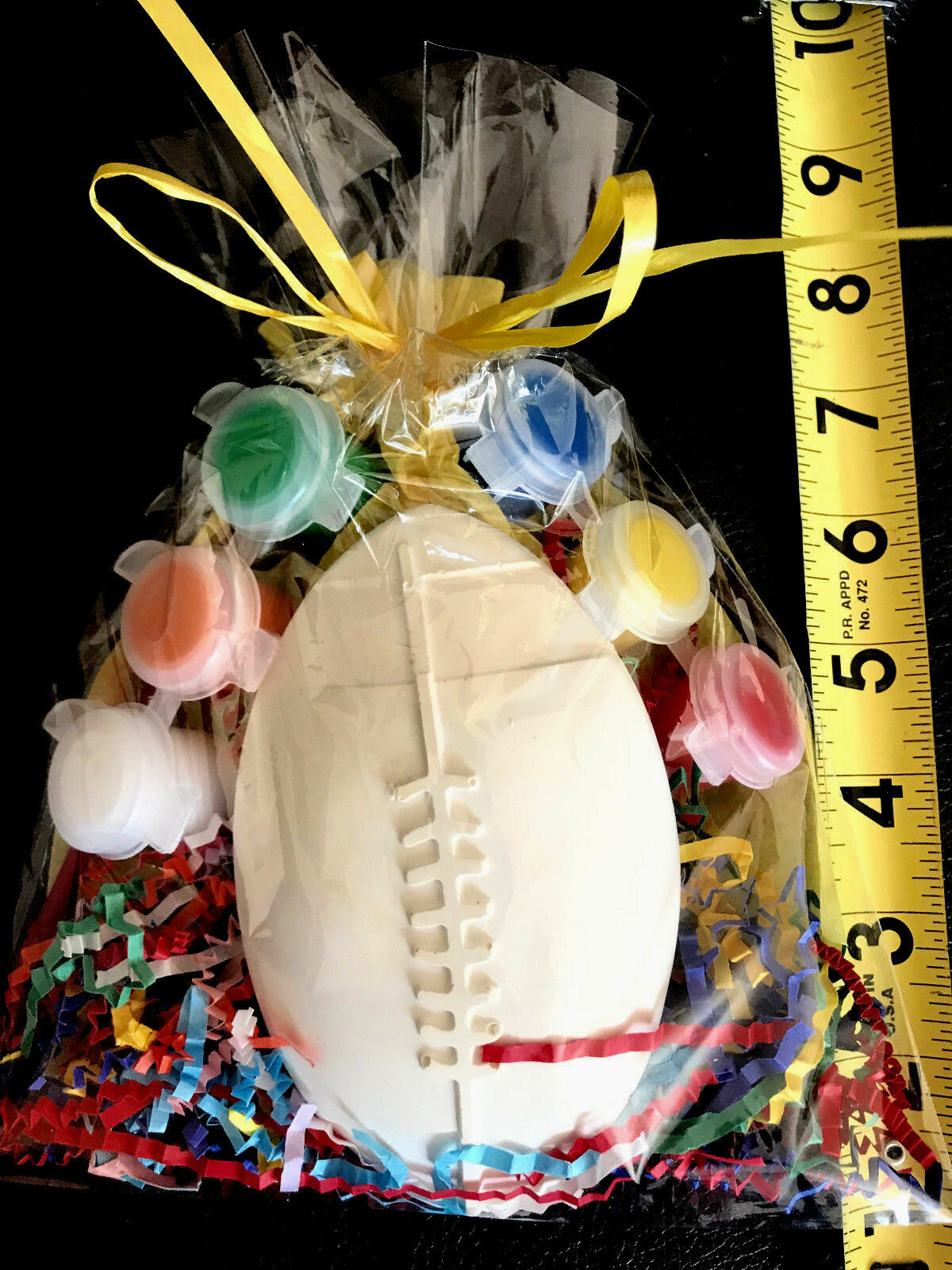 10 FOOTBALL, SPORTS party favors to paint.Creative, Free Shipping. PRICE PER 10