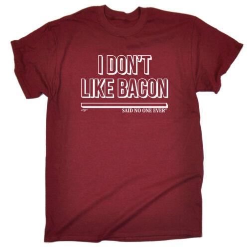 I Dont Like Bacon Snoe Funny Novelty T-Shirt Mens tee TShirt