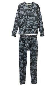 BOYS SMALL 6//7 CLIMATESMART GREEN BROWN CAMO FLANNEL PAJAMA PANTS NEW  #3835