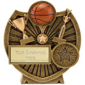 A1602a Résine Basketball Trophy Taille 9.25 Cm Gravure Gratuite-afficher Le Titre D'origine Vente De Fin D'AnnéE