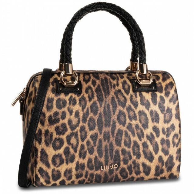 BORSA LIU JO Bauletto Maculato A69024 Satchel Bag M Leopardo
