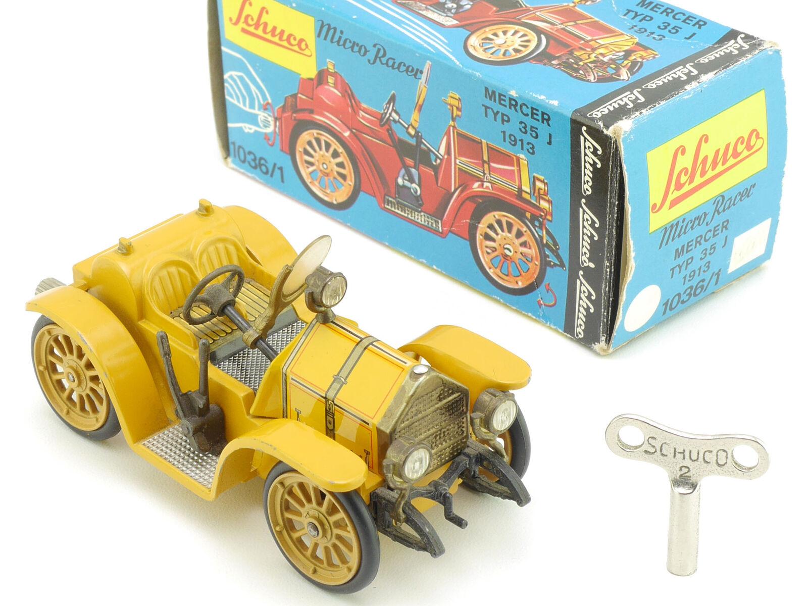 Schuco 1036 1 micro racer Mercer 35j 1913 jaune jaune jaune original vieux  1606-19-73 f906ab