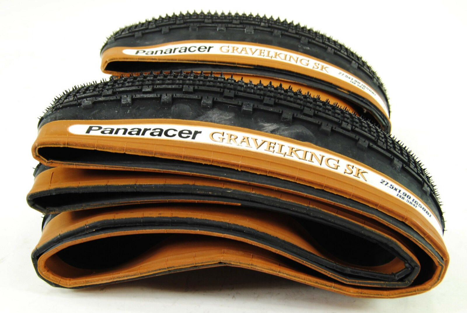 650B x 48mm Folding Bead Brown 2-PACK Panaracer GravelKing Slick Tire 27.5x1.9