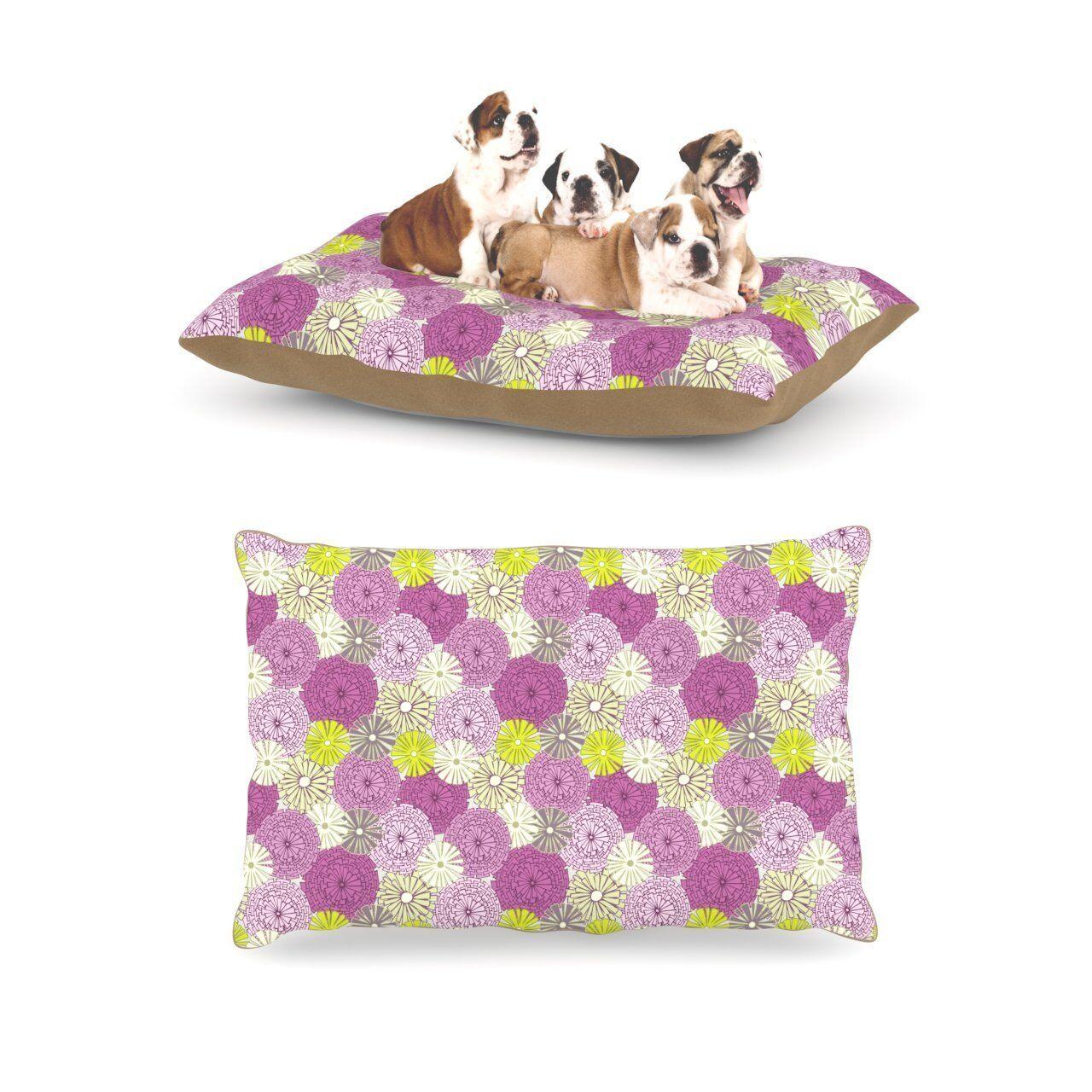 Kess InHouse Julie Hamilton Rhapsody Pink Fleece Large Pet Dog Bed 30 x 40