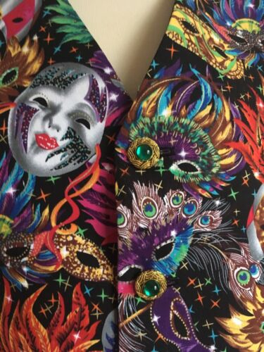 mardi matrimonio Fit Mens Waistcoat Masquerade Crociera To handmade Gras CqzTzwxB