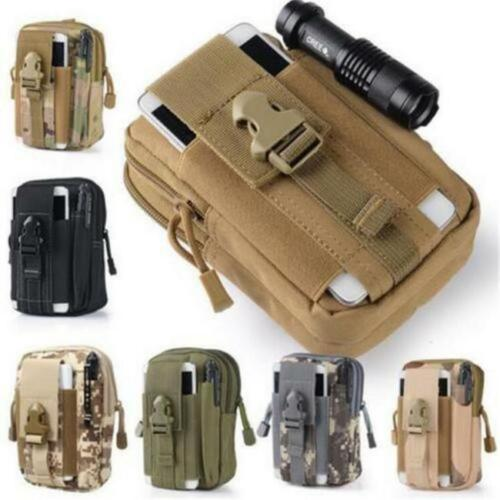 Tactical Molle Pouch Waist Belt Pack Military Hiking Camping Phone Pocket Bag 8C