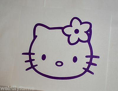 Hello Kitty Hawaiian Flower Vinyl Car Bumper Laptop iPad Tablet Decal Sticker