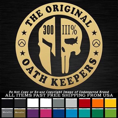 Expect Us Statue of Liberty Flag three percent Molon Labe Oath Keeper Sticker