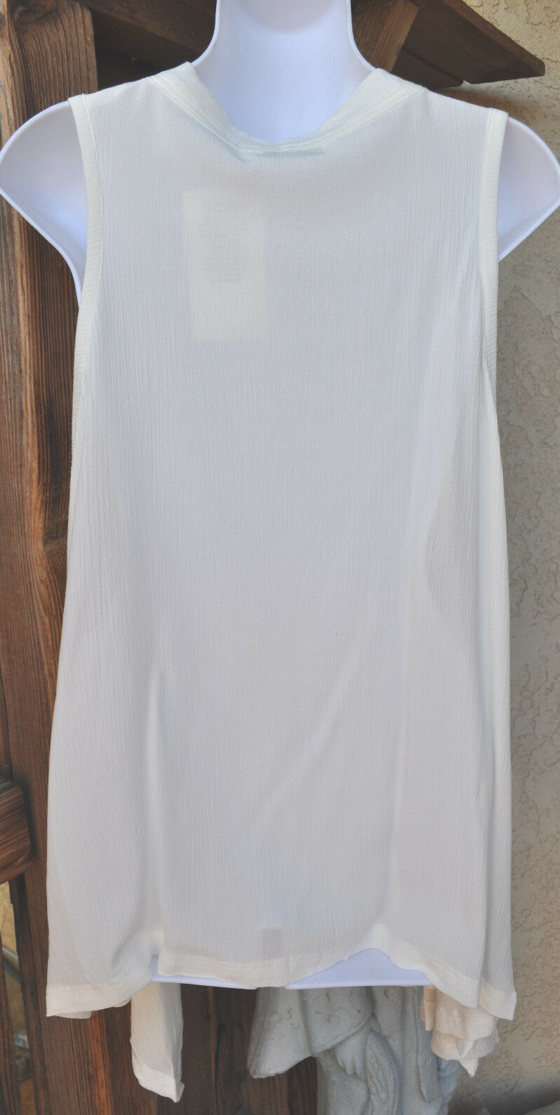 ART TO WEAR NEW NEW NEW STYLE BELLA VEST IN CLASSIC SOLID WHITE BY MISSION CANYON,OS  d14628