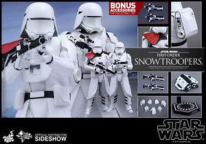 Hot Toys Star Wars Le Réveil De La Force First Order Snowtrooper 2 Pack En Stock