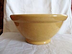 Antique-Pacific-Pottery-Stoneware-Mixing-Bowl-1920-039-s-Beige-12-9-75-034-D-4-75-034-H