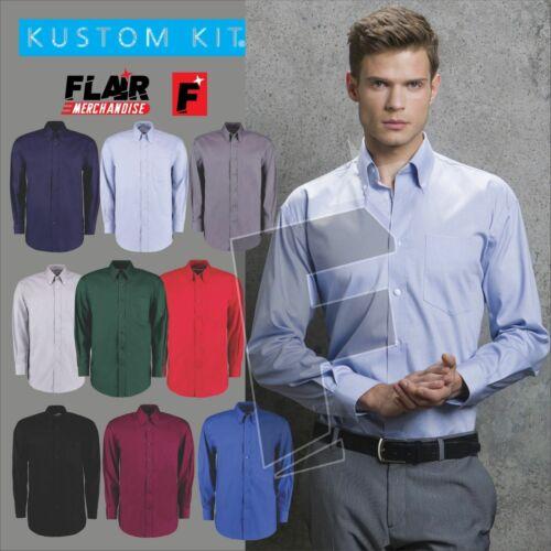 Kustom Kit Men/'s Long Sleeve Corporate Oxford Shirt