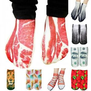 Cool-3D-Printed-Multiple-Pattern-Casual-Cool-Low-Cut-Ankle-Cotton-Socks-Unisex