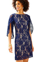 New Lilly Pulitzer $188 Bellmont Lace Dress In Navy Size XS-XL
