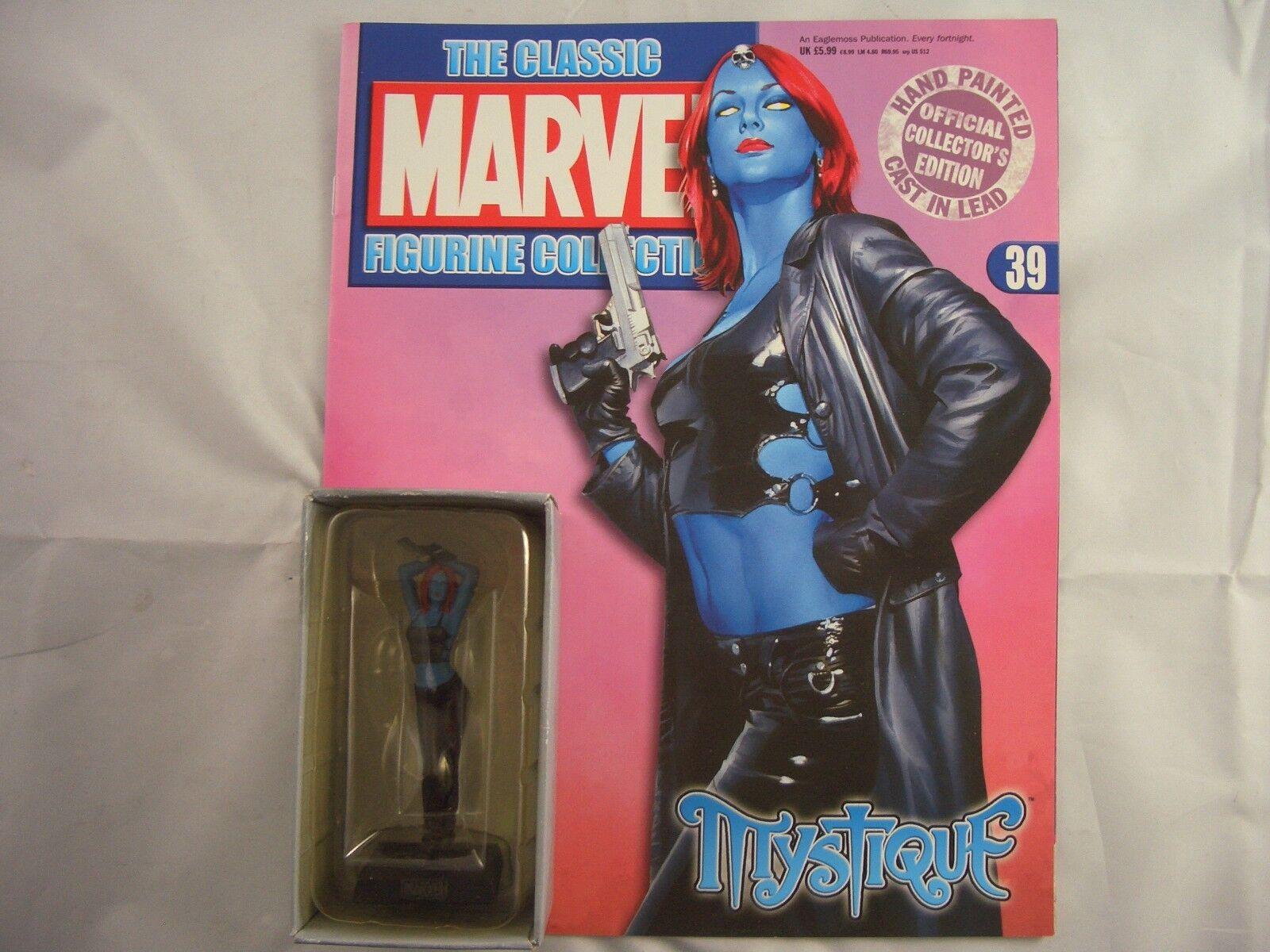 Eaglemoss 39 Marvel Figurine Collection Mystique with magazine 39 Eaglemoss aa7c54