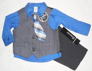 Krawatte Hochzeit Gr 50/56 Baby Kleidung, Schuhe & Accessoires Baby Jungen Taufanzug Festlich 4tlg Mit Weste