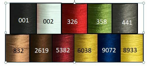 Gudebrod 100/% SILK Rod Winding Thread Size 00 Choice of 11 Colors 100 Yd Spools