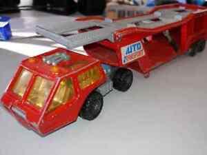 1976-MATCHBOX-Super-Kings-Truck-and-Trailer-K-10-Car-Transport-LESNEY-Vintage