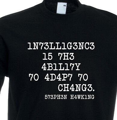Juko Kids Stephen Hawking Intelligence Is The Ability Adapt Change T Shirt.