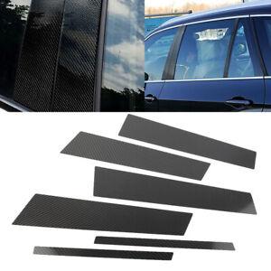 Carbon-Fiber-Car-Window-B-Pillar-Trim-Cover-For-Mercedes-Benz-GLA-2013-2018-New