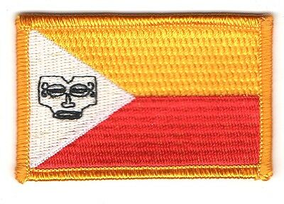 Parche bandera PATCH SICILIA 7x4,5cm bordado termoadhesivo nuevo