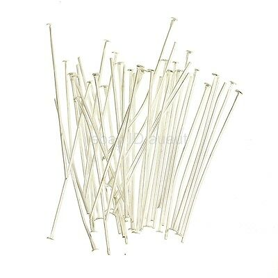 Wholesale 100x Silver Golden Head/Eye/Ball Pins Finding 21 Gauge 10 Size U Pick