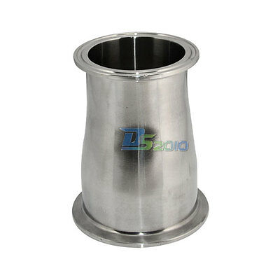 SuperWhole 63MM to51MM 2.5to 2 Sanitary Ferrule Reducer Fitting SS316 to Tri Clamp NEW Edelstahl Rohr Rohrverbinder