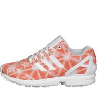 Adidas Zx Flux Womens - Orange/white - Size 6.5 - Trainers Running Shoes