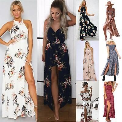 Size 12//14 Boh womens Holiday Long Dress Ladies Summer Maxi Dress Flower print