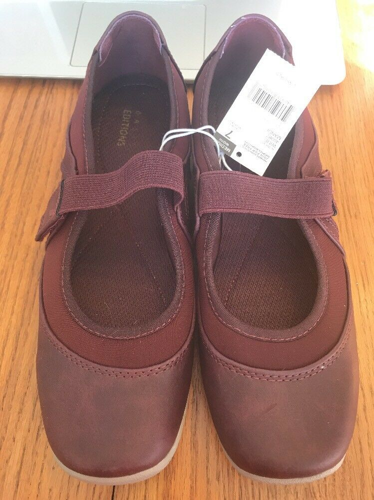 Womens Wine Ships Mandi Casuals size 7 Ships Wine N 24h ab6bd3
