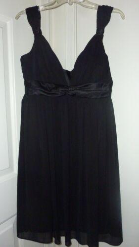 LONDON TIMES 100% SILK CHIFFON BLACK DRESS size 10