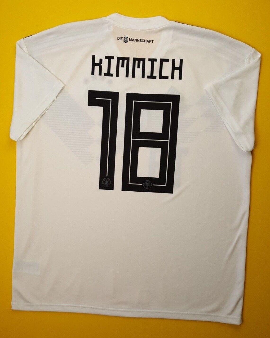 5+ 5 Kimmich Germany jersey XL 2018 DFB home shirt BR7843 soccer fotball Adidas