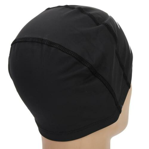 Details about  /Durable High Elastic PU Waterproof Swimming Cap For Unisex Adult Black