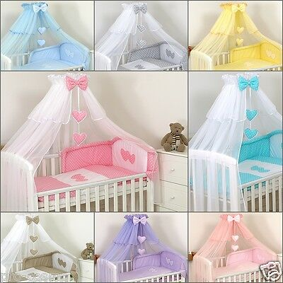 BABY COT// BED CANOPY DRAPE-BIG 480cm FREESTANDING HOLDER White