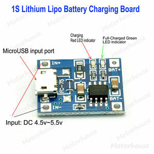 10pcs 5V Mini USB 1A Lithium Battery Lipo Charger Module for Arduino TW