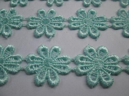 2 METER Borte GPO Blumen Spitze Nichtelastisch Meer Grün 2,5cm  top mode