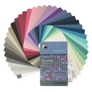farbpass sommer mit 35 farben elegance zur farbberatung farbf cher sommertyp ebay. Black Bedroom Furniture Sets. Home Design Ideas