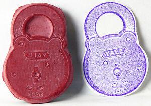 UM-Rubber-Stamp-PADLOCK-Metal-Lock-Yale-1-x-1-5-034