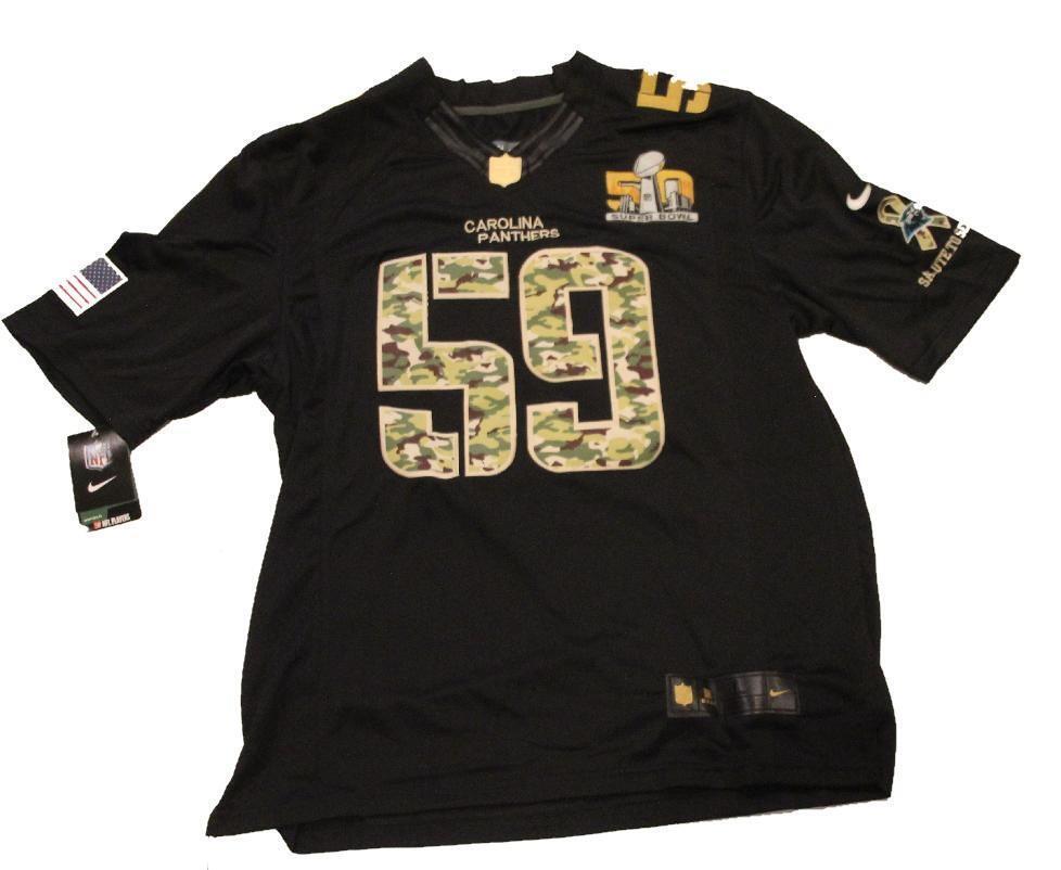 Luke Kuechly Carolina Panthers 50th Super Bowl NFL Jersey