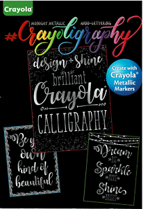 Calligraphy FREE Shipping! NEW Crayola Hand-Lettering activity book